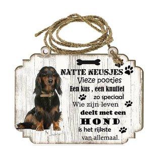 Hondenbordje: Teckel langharig