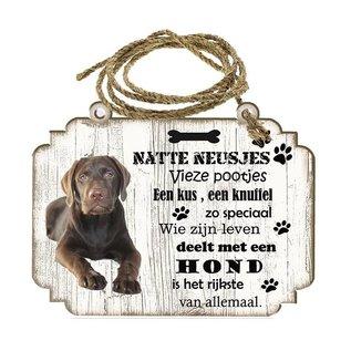 Hondenbordje: Labrador bruin