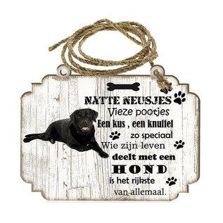 Hondenbordje: Labrador zwart