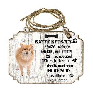 Hondenbordje: keeshond