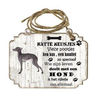 Hondenbordje: Italiaanse windhond