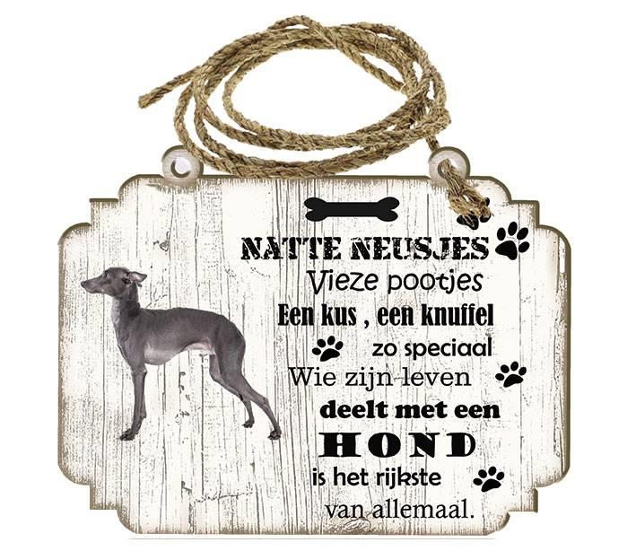 creatief art - hondenbordje: italiaanse windhond