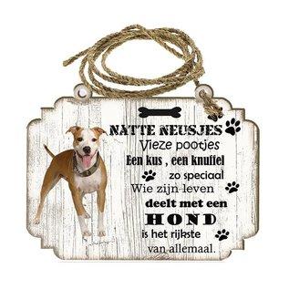 Hondenbordje:     Amerikaanse Staffordshireterriër
