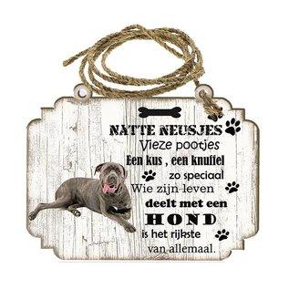 Hondenbordje: cane corso