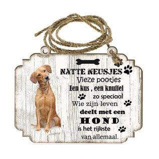 Hondenbordje:        labrador blond