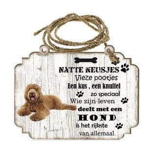 Hondenbordje: labradodel bruin