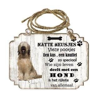 Hondenbordje: Briard