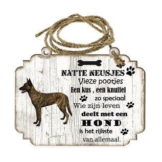 Hondenbordje: Hollandse Herder (korthaar)
