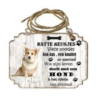 Hondenbordje:  Welsh Corgi Pembroke