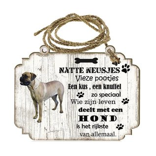 Hondenbordje: Bulmastiff