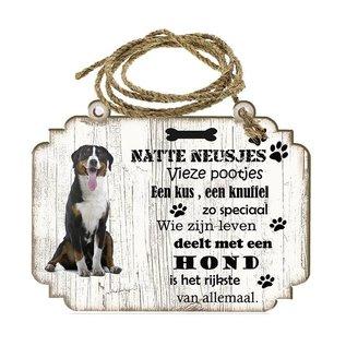Hondenbordje: Grote Zwitserse Sennerhond