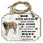 Hondenbordje: Spaanse Mastiff