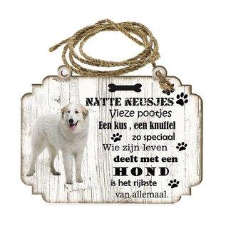 Hondenbordje: Pyrineese Berghond