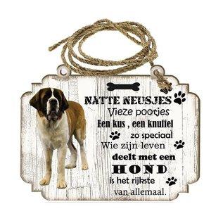 Hondenbordje: Sint Bernard (langhaar)