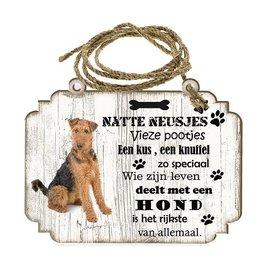 Hondenbordje: Airedale Terrieér