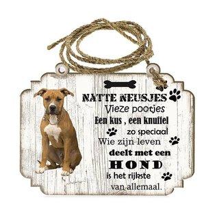 Hondenbordje: American Staffordshire Terrier