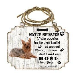 Hondenbordje: Australische Silky Terier
