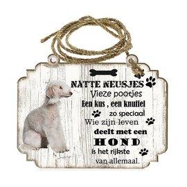 Hondenbordje: Bedlington Terier