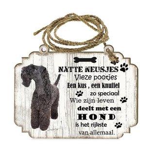 Hondenbordje: Kerry Blue Terriër