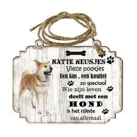 Hondenbordje: Akita