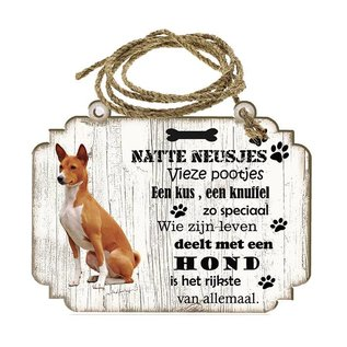 Hondenbordje: Basenji