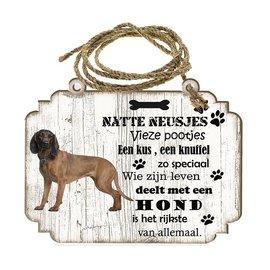 Hondenbordje: Beierse Bergzweethond