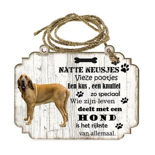 Hondenbordje: Bloedhond