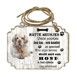 Hondenbordje: Clumber Spaniel