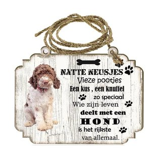 Hondenbordje: Lagotto Romagnolo