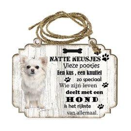 Hondenbordje: Chihuahua Langhaar