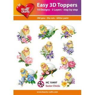 Hearty Crafts 3D-Topper Easter Chicks