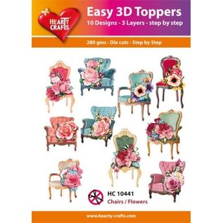 Hearty Crafts 3D-Topper Chairs and flowers