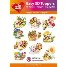 Hearty Crafts 3D-Topper Friendly Snails