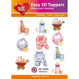 Hearty Crafts 3D-Topper Newborn