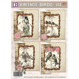 Creatief Art Vintage Birds 01