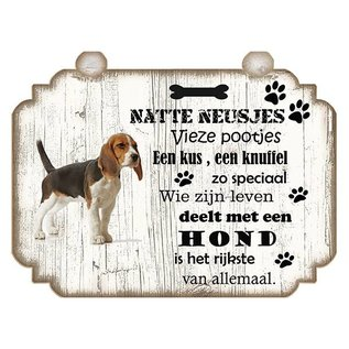Hondenbordje: Beagle