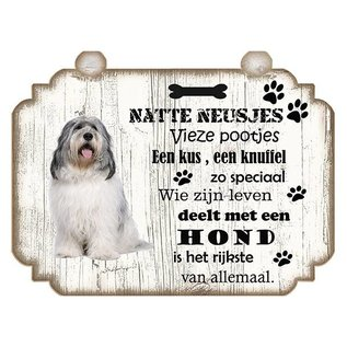 Hondenbordje: Bobtail Terrier