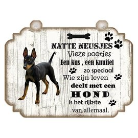 Hondenbordje: Dobberman Pinscher