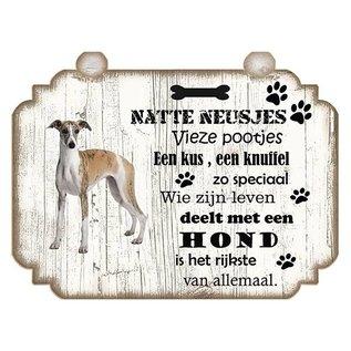Hondenbordje: Greyhound (licht)