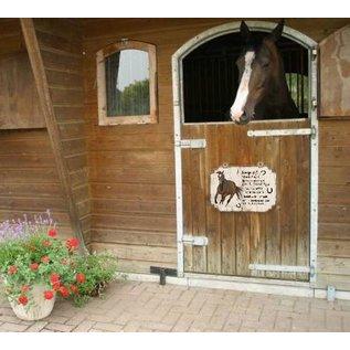 Plaque de cheval: Brun avec blanc