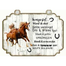 Plaque de cheval: Brun avec blanc - Copy