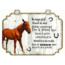 Plaque de cheval: Brun avec blanc - Copy - Copy