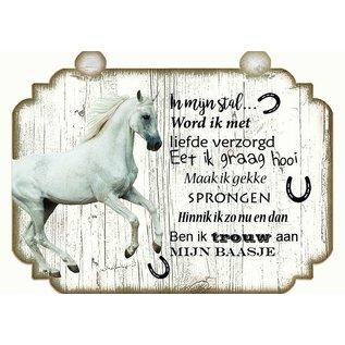Paardenbordje: Wit