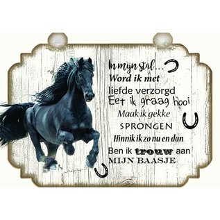 Paardenbordje: Zwart lopend