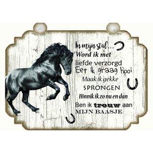 Pferdeplatte: Braun mit Weiß - Copy - Copy - Copy - Copy - Copy