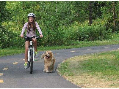 WoofCycle Hondenfietsbeugel om samen met je Hond te fietsen