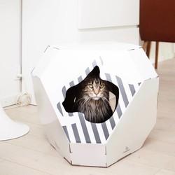 Kattenhuis van Karton met Scratcher