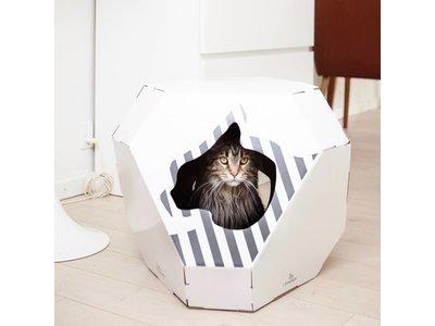 myKotty Mia Trendy Kartonnen Kattenhuisje incl. Krabmat