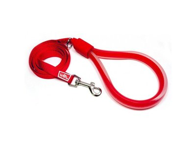 Comfortabele Hondenriem met Gel Handvat in Blauw, Roze en Rood