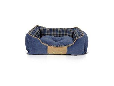 Stevige Highland Hondenmand in Blauw en Rood